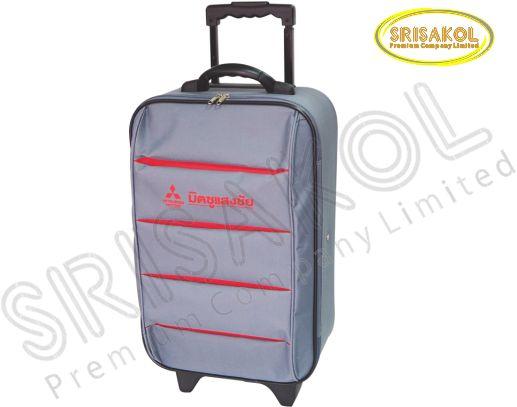 กระเป๋าโครงมีล้อลาก  สีเทา สลับ สีแดง รหัส A1903-3B