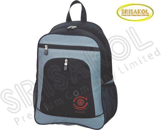 กระเป๋าเป้ใส่ Note book สีดำ สลับ สีเทา รหัส A2018-12B