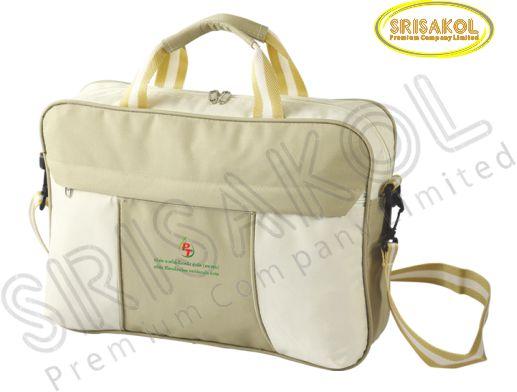 กระเป๋าใส่เอกสาร สีกากี สลับ สีครีม  รหัส A1925-17B