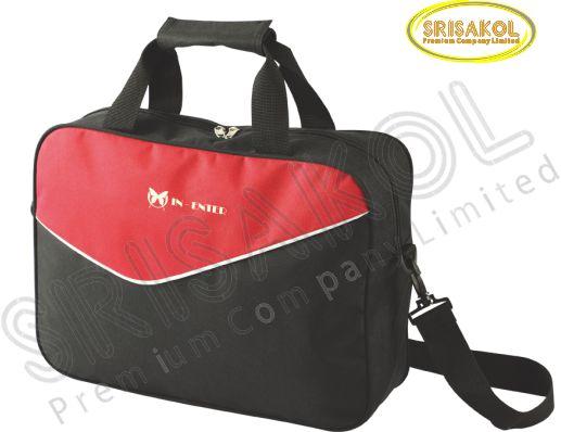 กระเป๋าใส่เอกสาร สีดำ สลับ สีแดง รหัส A1928-14B