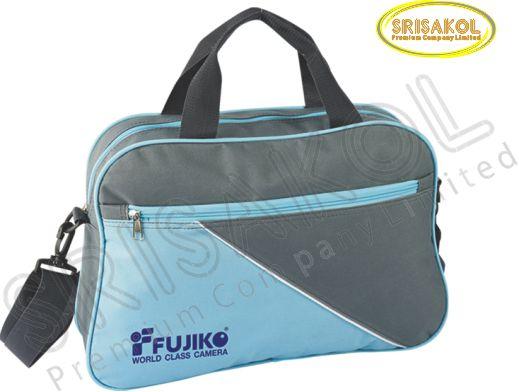 กระเป๋าใส่เอกสาร สีเทาเข้ม สลับ สีฟ้า รหัส A1922-11B