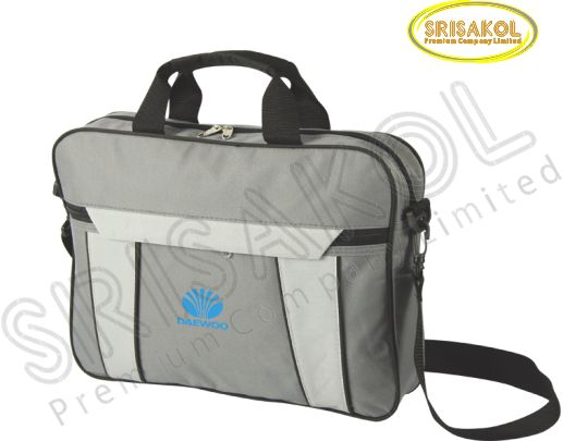 กระเป๋าใส่เอกสาร สีเทาเข้ม สลับ สีเทาอ่อน รหัส A1925-12B