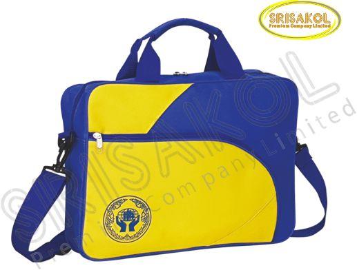 กระเป๋าใส่เอกสาร สีน้ำเงิน สลับ สีเหลือง  รหัส A2010-4B