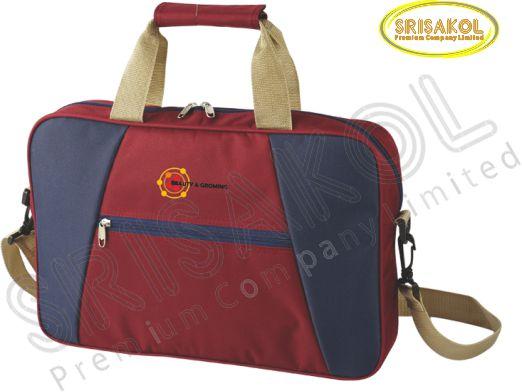 กระเป๋าใส่เอกสาร สีเลือดหมู สลับ สีกรมท่า รหัส A1922-17B