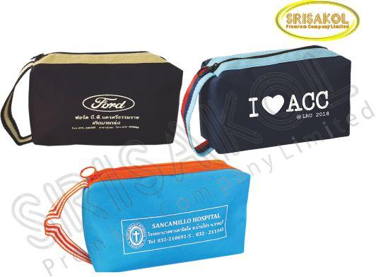 กระเป๋าใส่ของจุกจิก มีซิป  รหัส A2023-13B