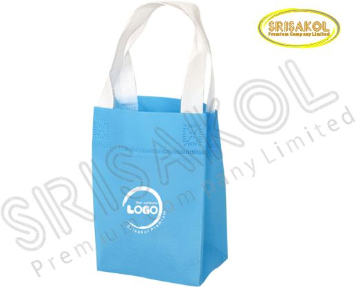 กระเป๋าช็อปปิ้งผ้าสปันบอนด์ สีฟ้า รหัส A2002-2B