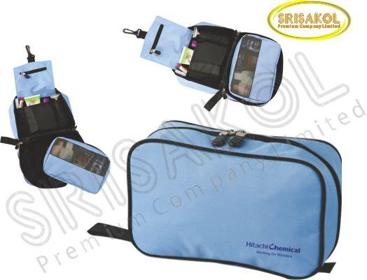 กระเป๋าใส่อุปกรณ์เดินทาง สีฟ้า รหัส A2015-16B
