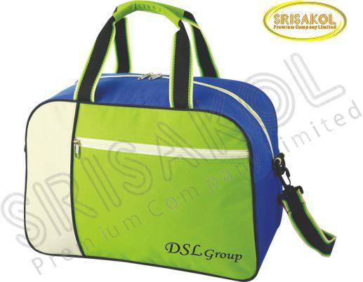 กระเป๋าเดินทาง สีเขียว สลับ สีครีม/น้ำเงิน รหัส A2007-2B