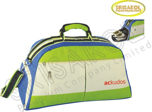 กระเป๋าเดินทาง สีเขียว สลับ สีครีม/น้ำเงิน รหัส A2007-5B