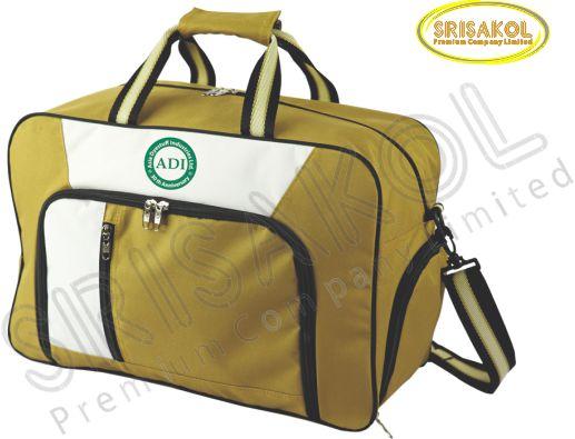 กระเป๋าเดินทาง สีน้ำตาล สลับ สีขาว รหัส A2007-12B