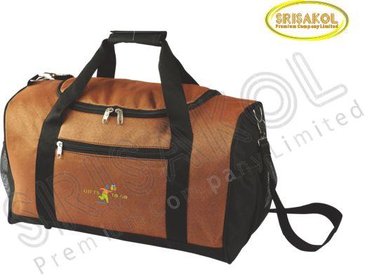 กระเป๋าเดินทาง สีน้ำตาล สลับ สีดำ รหัส A2009-1B