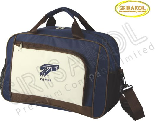 กระเป๋าเดินทาง สีกรมท่า สลับ สีครีม/น้ำตาล รหัส A2015-8B