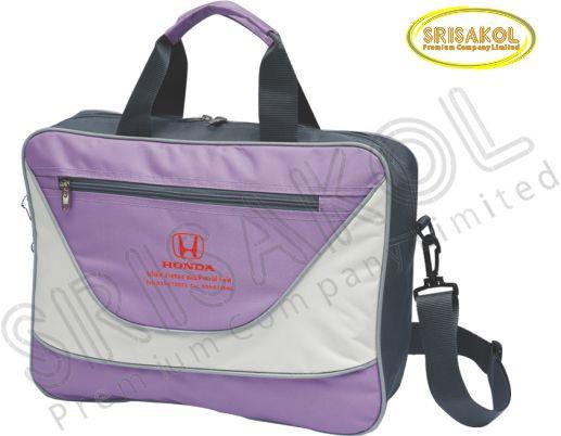 กระเป๋าใส่เอกสาร สีม่วง สลับ สีเทา รหัส A2012-5B