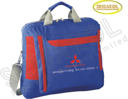 กระเป๋าใส่เอกสาร สีน้ำเงิน สลับ สีแดง รหัส A2012-14B
