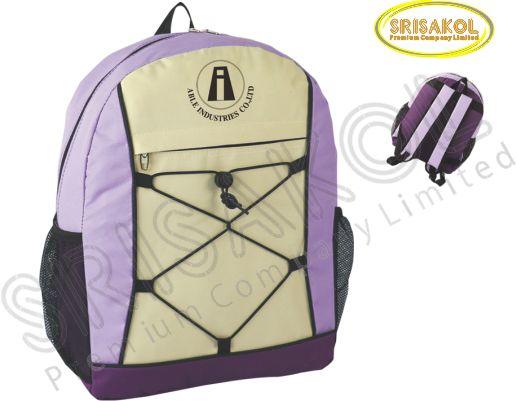 กระเป๋าเป้ สีม่วง สลับ สีครีม รหัส A2006-6B