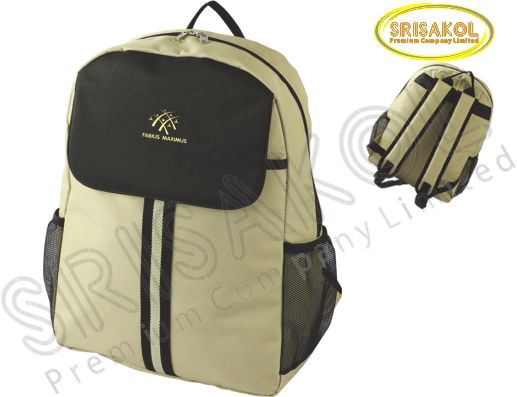 กระเป๋าเป้ สีกากี สลับ สีดำ รหัส A2009-9B