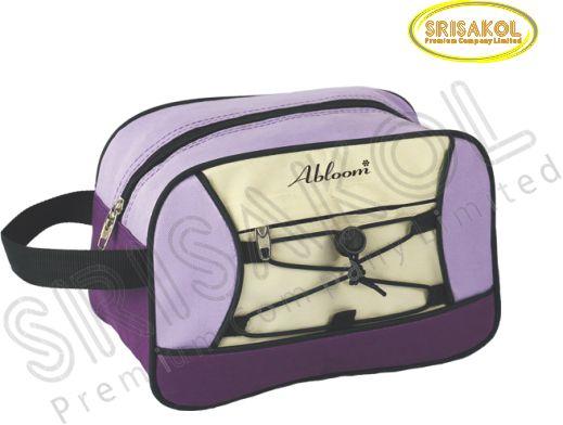 กระเป๋า handbag สีม่วง สลับ สีครีม รหัส A2006-8B
