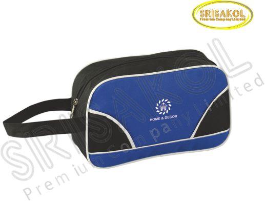 กระเป๋า handbag สีดำ สลับ สีน้ำเงิน รหัส A2008-13B