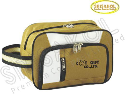 กระเป๋า handbag สีน้ำตาล สลับ สีขาว รหัส A2007-9B