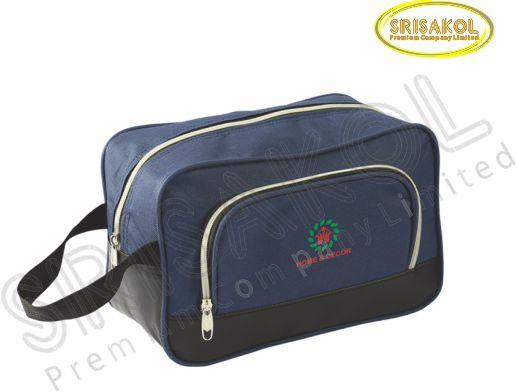 กระเป๋า handbag สีกรมท่า สลับ สีดำ รหัส A2008-4B