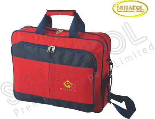 กระเป๋าสะพาย สีแดง สลับ สีกรมท่า รหัส A2016-7B
