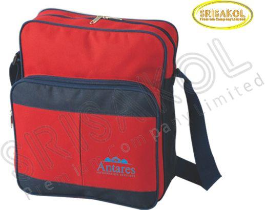 กระเป๋าสะพาย สีแดง สลับ สีกรมท่า รหัส A2016-8B