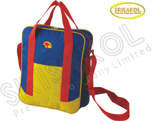 กระเป๋าสะพาย สีน้ำเงิน สลับ สีเหลือง รหัส A2016-14B