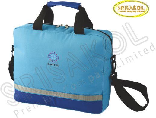 กระเป๋าใส่ Note book สีฟ้า สลับ สีน้ำเงิน  รหัส A2006-15B