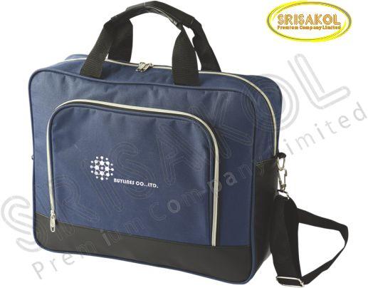 กระเป๋าใส่ Note book สีกรมท่า สลับ สีดำ  รหัส A2008-3B