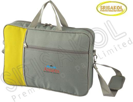 กระเป๋าใส่ Note book สีเทา สลับ สีเหลือง  รหัส A2008-10B