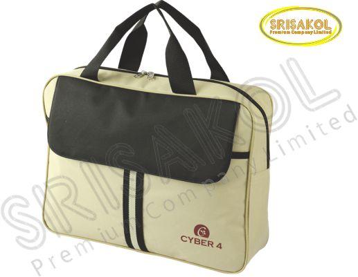 กระเป๋าใส่ Note book สีกากี สลับ สีดำ  รหัส A2009-11B