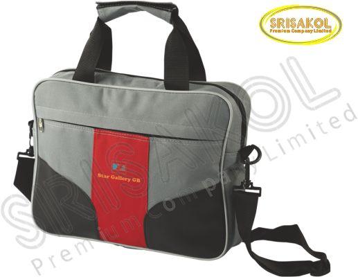 กระเป๋าใส่ Note book สีเทา สลับ สีแดง  รหัส A2010-9B
