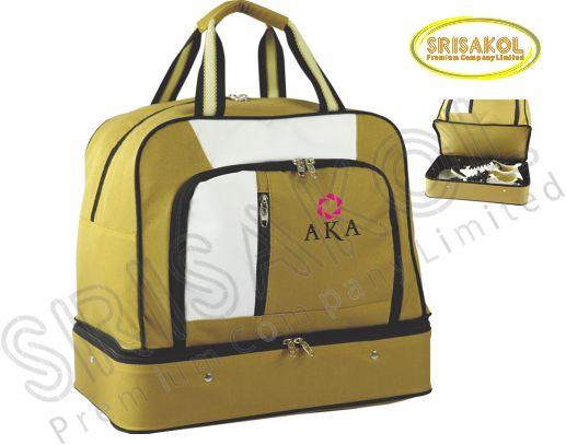กระเป๋ากอล์ฟ สีน้ำตาล สลับ สีขาว รหัส A2007-15B