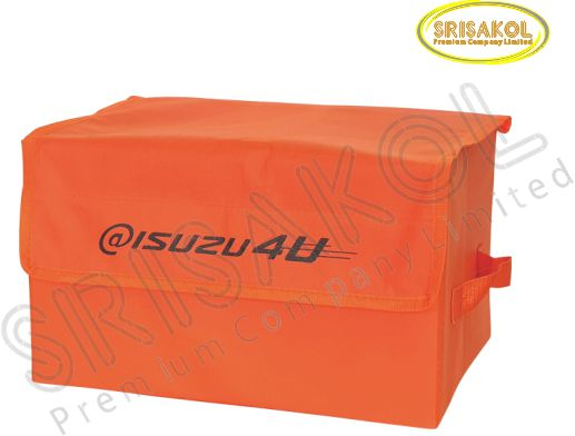 กระเป๋าเก็บของพับเก็บได้  สีส้ม  รหัส A2013-17B