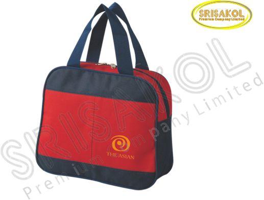 กระเป๋าหิ้วเล็ก สีแดง สลับ สีกรมท่า รหัส A2016-9B