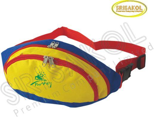 กระเป๋าคาดเอว สีน้ำเงิน สลับ สีเหลือง รหัส A2016-15B