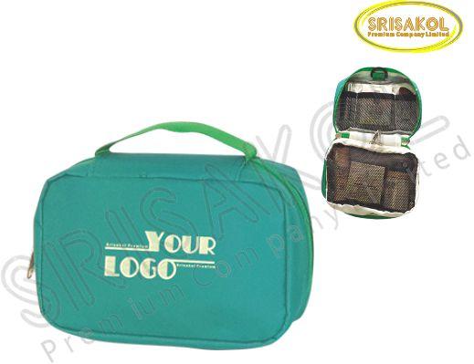 กระเป๋าใส่อุปกรณ์เดินทาง สีเขียว  รหัส A2015-11B