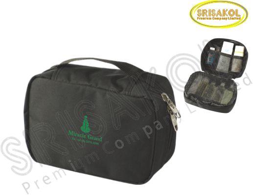 กระเป๋าใส่อุปกรณ์เดินทาง สีดำ รหัส A2015-10B