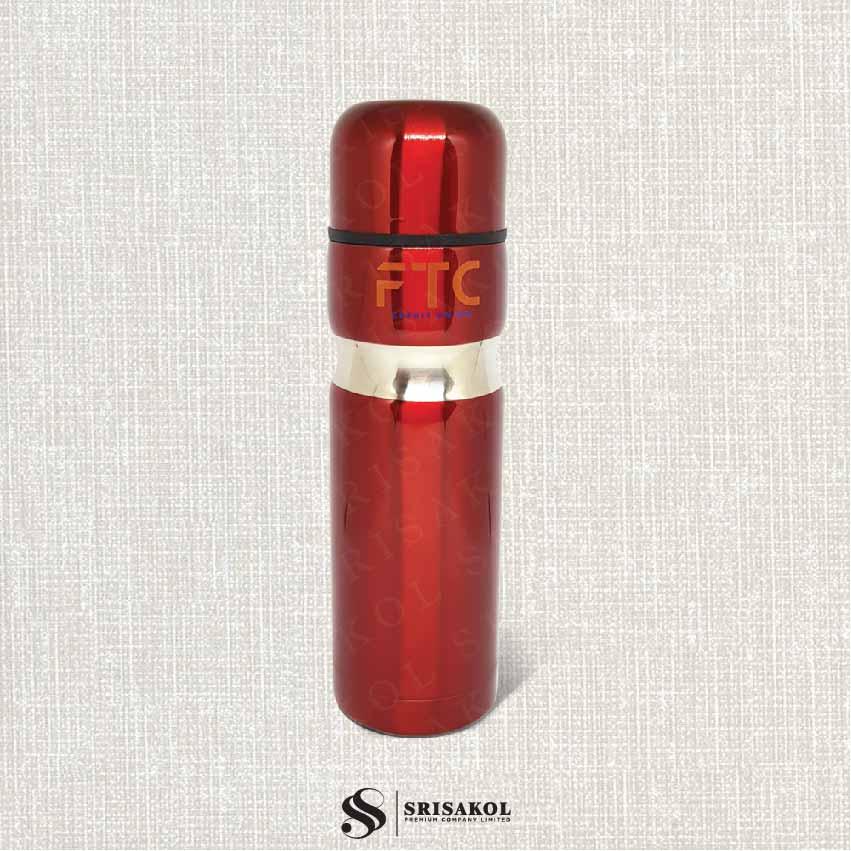 กระติกน้ำ นำเข้า รหัส A2030-7I (สีแดง)