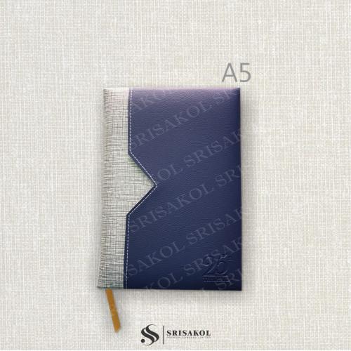 สมุด Diary / Note A5 ปกบุฟองน้ำ มีช่องเสียบของ เพิ่มใบแทรก รหัส A2209-11D