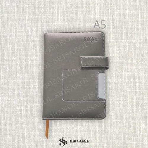 สมุด Diary / Note A5 ปก PU แบบสอด หูแม่เหล็ก มีช่องใส่นามบัตร มีที่เสียบปากกา รหัส A1918-16D