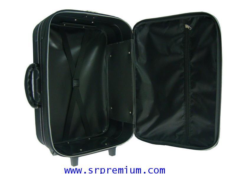 กระเป๋าเดินทางแบบโครง ล้อลากคันชัก  เพิ่มหน้าโฟม รหัส2121 ขนาด 18-28 นิ้ว