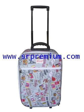 กระเป๋าเดินทางมีคันชัก โครงล้อลาก 7713 ขนาด 18 นิ้ว (768H9)
