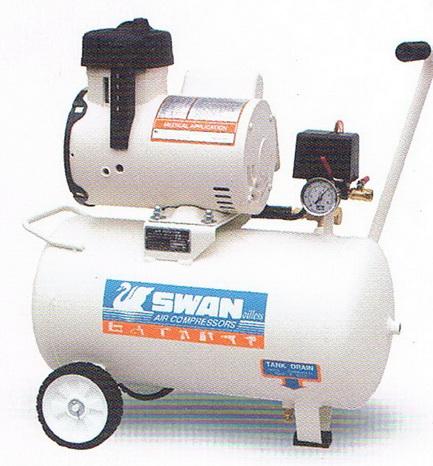ปั๊มลมสวอนแบบไม่ใช้น้ำมัน SWAN Oilfree Compressor รุ่น DR-115-22L