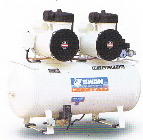 ปั๊มลมสวอนแบบไม่ใช้น้ำมัน SWAN Oil Free Compressor รุ่น DR-115-2B