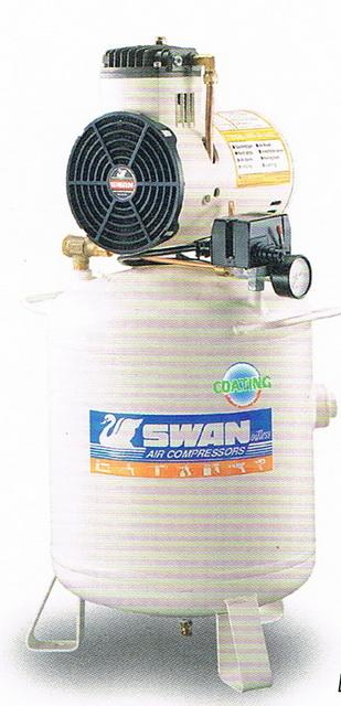 ปั๊มลมสวอนแบบไม่ใช้น้ำมัน SWAN Oil Free Compressor รุ่น DR-115-30L