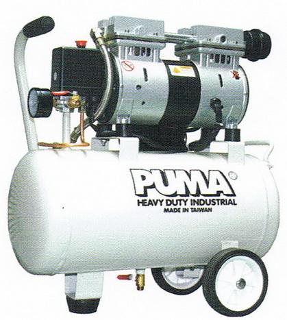 ปั๊มลมพูม่าแบบไม่ใช้น้ำมัน PUMA Oil Free Compressor รุ่น OS-25/580watt/25L