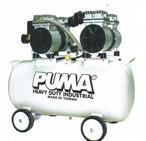 ปั๊มลมพูม่าแบบไม่ใช้น้ำมัน PUMA Oil Free Compressor รุ่น OS-50/580watt/50L
