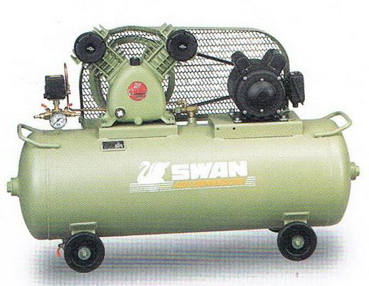 ปั๊มลมสวอน รุ่น SVP-202/106L/380V (2 แรงม้า, 106 ลิตร, 380 โวลท์)