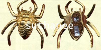แมงมุมมหาลาภเนื้อโลหะชุบทอง